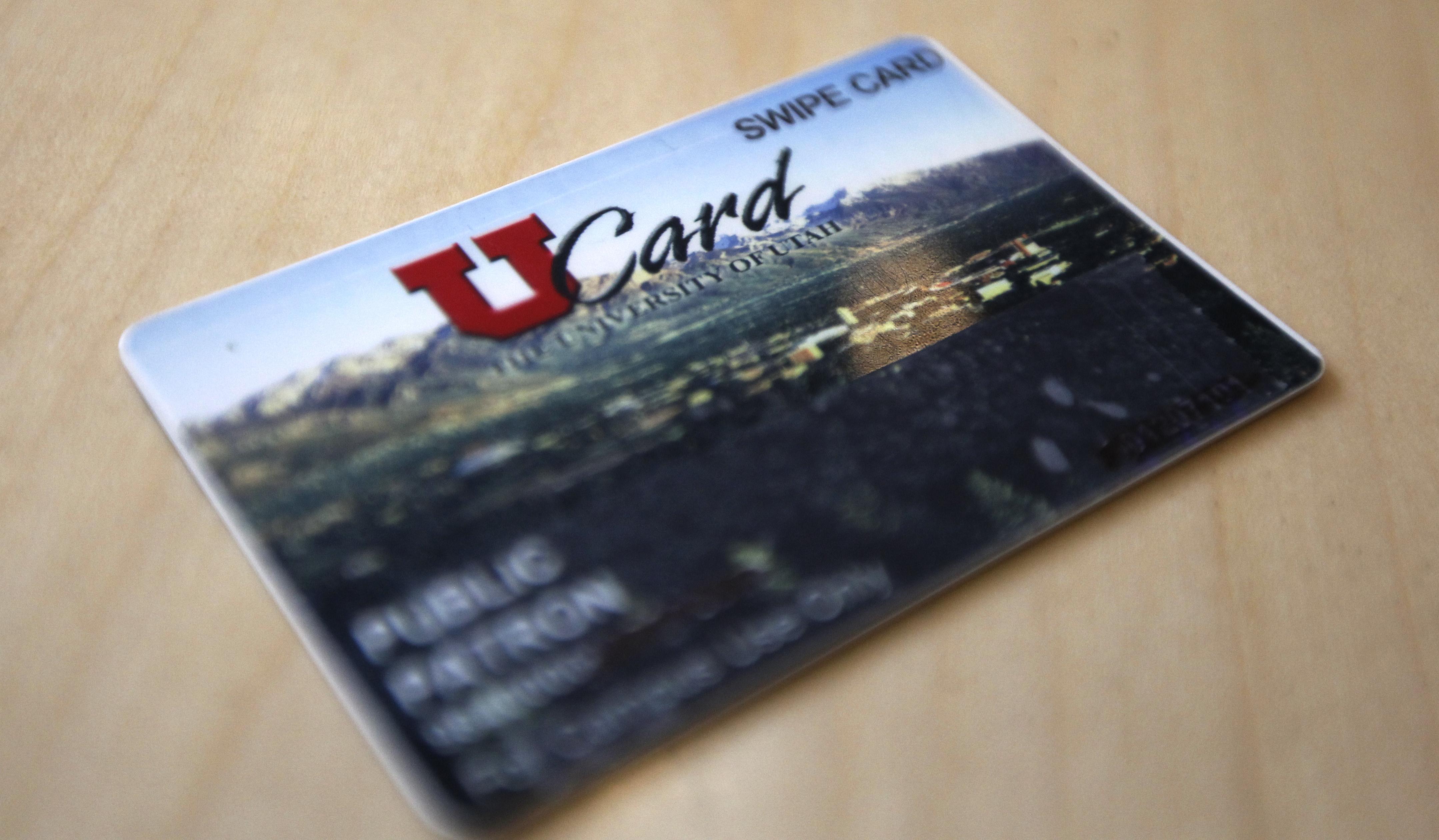 U Card sitting on a table