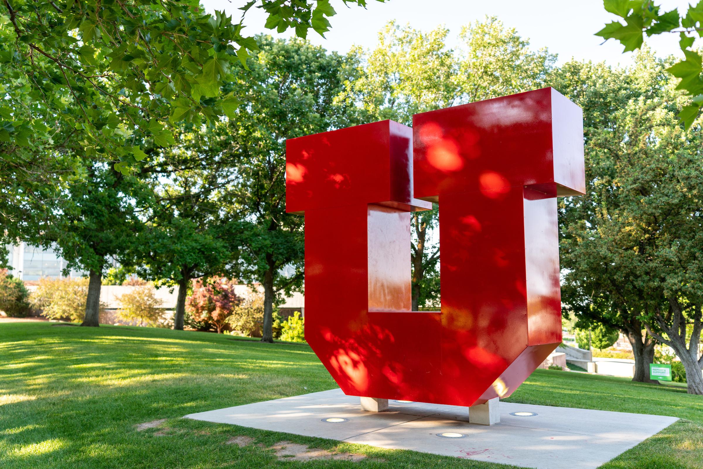 the Block U installation on the University of Utah campus