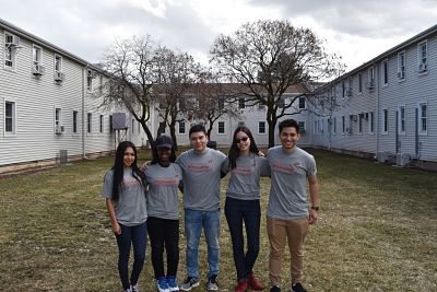 Dream Ambassadors standing in a group outside of the Annex Building