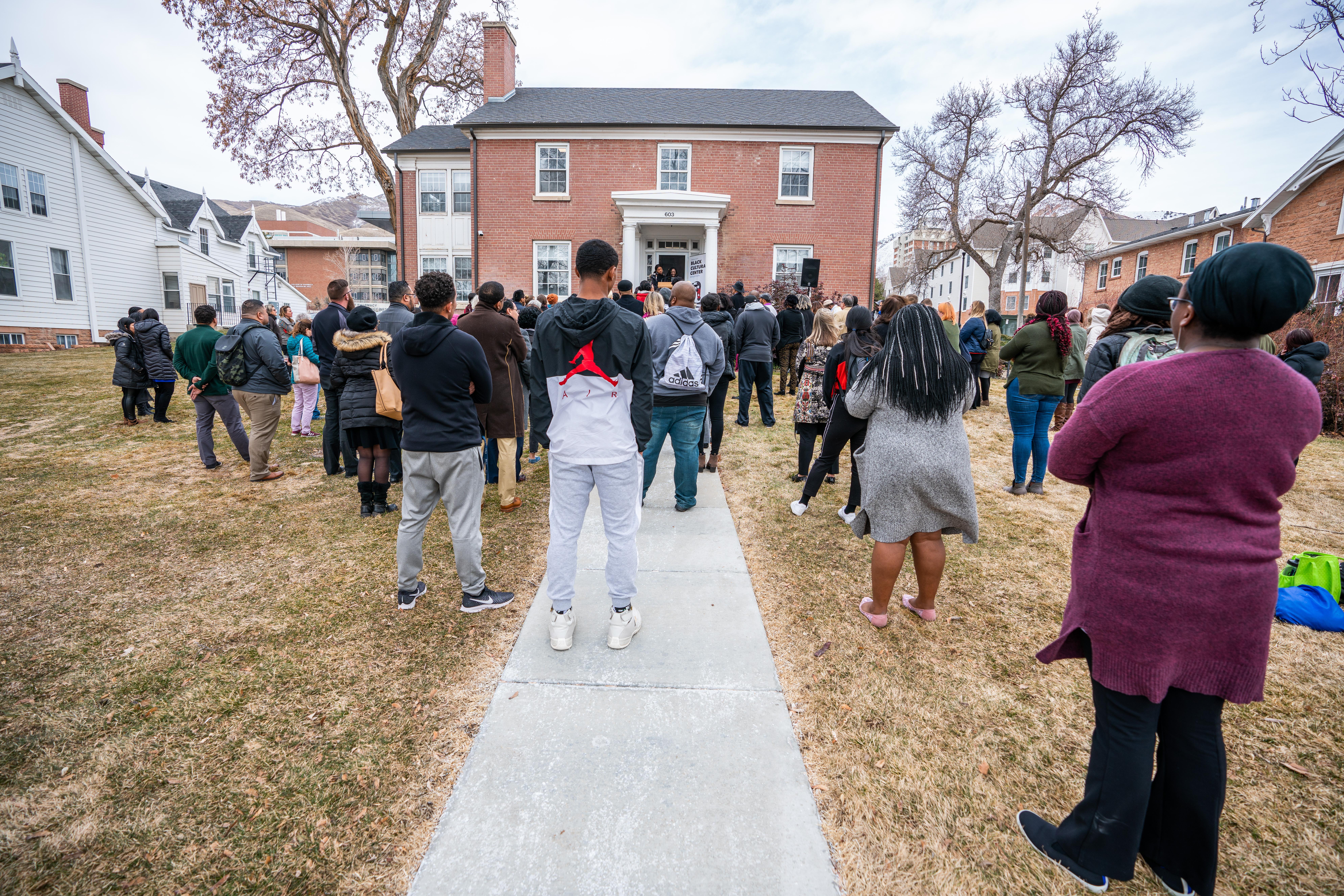 Barbara Kufiadan, Black Student Union Member speaks at the Black Cultural Center in Salt Lake City, Utah University of Utah, 95 Fort Douglas Blvd. (Bldg. 603)