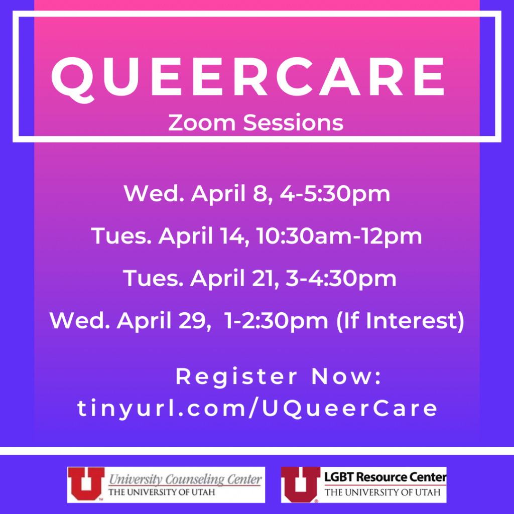 queercare zoom sessions, register now