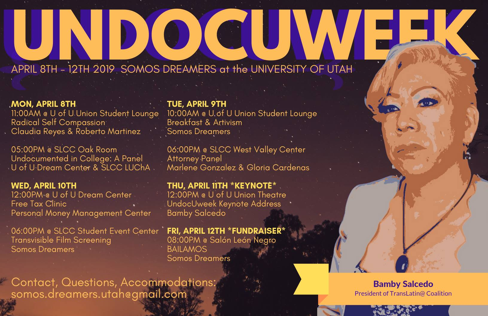 Undocuweek is April 8th through 12th with Somos Dreamers at the University of Utah