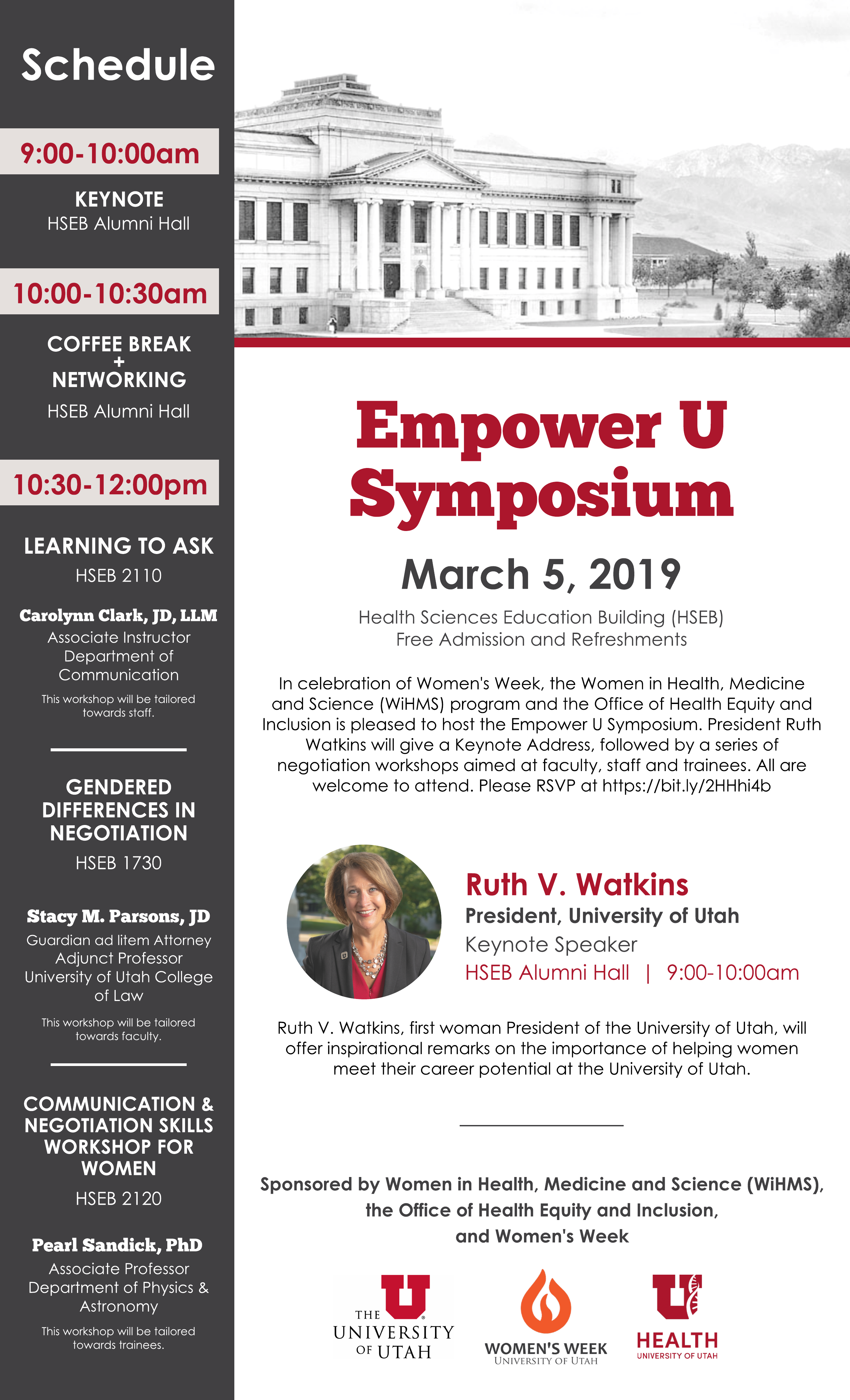 Empower U Symposium Marketing flyer